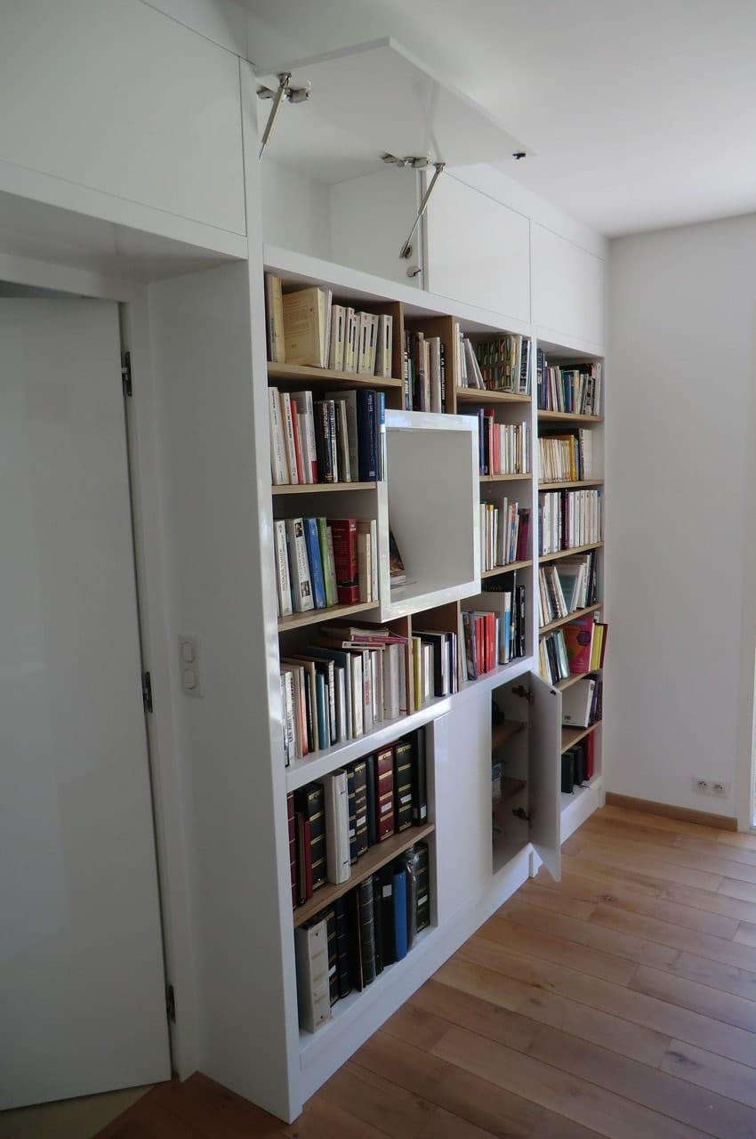 biblioth que sur mesure anachronic mobilier samuel ott. Black Bedroom Furniture Sets. Home Design Ideas