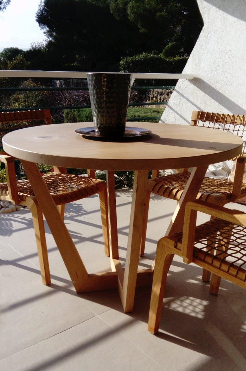 Table Design En Bois Massif Anachronic Mobilier Samuel Ott
