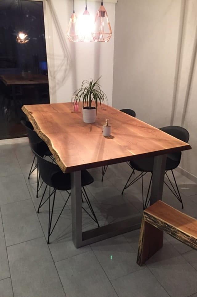 Table design en bois massif anachronic mobilier samuel ott - Ebeniste designer meubles ...