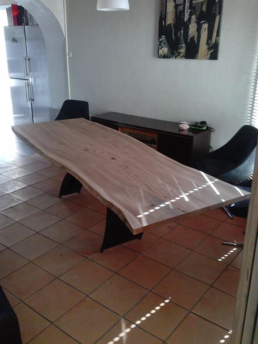 Ebeniste Aix En Provence table design en bois massif - anachronic mobilier - samuel ott